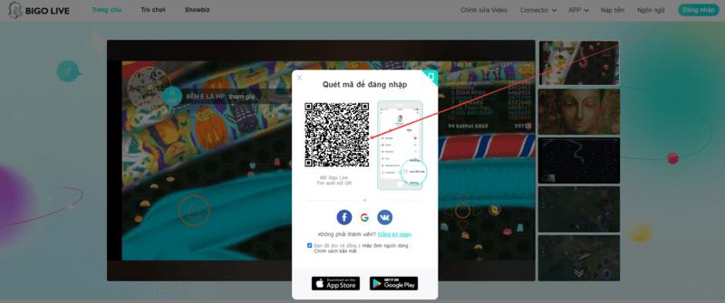 Cách xem video BIGO Live trên trang Web