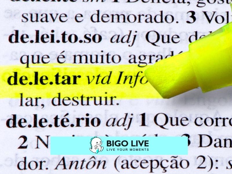 Comment supprimer un compte Bigo