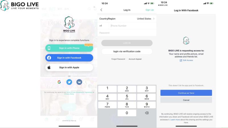 Login Bigo Live App on Mobile