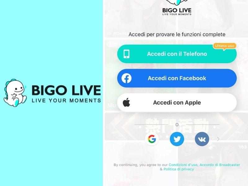 Come accedere a BIGO LIVE