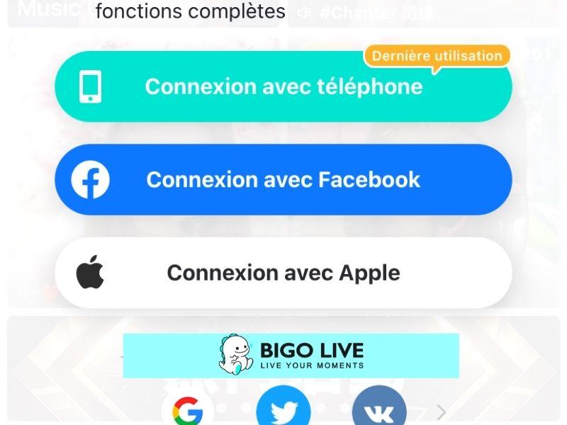 Comment se connecter à BIGO LIVE