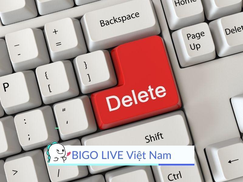 Cách xóa tài khoản BIGO LIVE vĩnh viễn